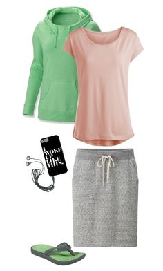 """""""Lazy Days"""" by lizardbeth95 ❤ liked on Polyvore featuring Uniqlo, Columbia, Pieces and The North Face"""