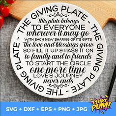 Giving Plate svg | The Giving Plate svg | Sharing Plate svg | Cookie Plate svg | Farmhouse Plate svg | Family Plate svg