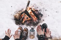 coffeentrees: Warming up in Kananaskis, Alberta, Canada. Photo by: @parallelimaging by dannerboots Winter Wonderland, Tis The Season, Winter Season, White Christmas, Christmas Time, Jul, Alberta Canada, Camping And Hiking, Camping Tips