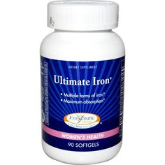 Buy Enzymatic Therapy Ultimate Iron Women's Health at Megavitamins Supplement Store Australia.Ultimate Iron replaces iron loss for vital energy and stamina.Ultimate Iron increase absorption and promote healthy red blood cells.
