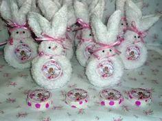 souvenirs conejitos de toalla-cumpleaños-bautismo-nacimiento