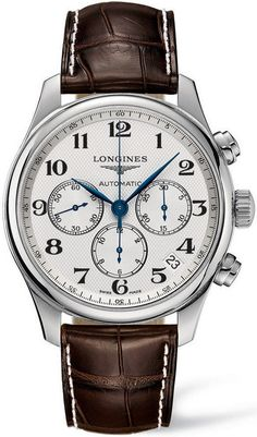 @longineswatches Master Collection Mens #add-content #bezel-fixed #bracelet-strap-leather #case-material-steel #case-width-44mm #chronograph-yes #date-yes #delivery-timescale-1-2-weeks #dial-colour-silver #gender-mens #l28594783 #luxury #movement-automatic #new-product-yes #official-stockist-for-longines-watches #packaging-longines-watch-packaging #style-dress #subcat-master-collection #supplier-model-no-l2-859-4-78-3 #warranty-longines-official-2-year-guarantee #water-resistan...