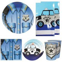 Police Deluxe Party Packs (For 16 Guests)