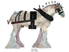 Beautiful cart horse collage by Peter Clark