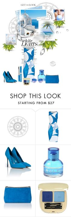 """summer time blues......."" by lolas ❤ liked on Polyvore featuring Emilio Pucci, COVERGIRL, Sergio Rossi, Ralph by Ralph Lauren, Matthew Williamson, Dolce&Gabbana, River Island, Chanel and Post-It"