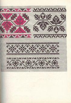 Knitting Charts, Lace Knitting, Knitting Patterns, Fair Isle Chart, Fair Isle Pattern, Filet Crochet, Knit Or Crochet, Cross Stitch Borders, Cross Stitch Patterns
