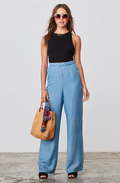7a1be1c3f709 Lorril Linen High Waisted Pant