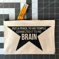 "This pencil case for anyone who is already singing ""And he wrote his first refrain, a testament to his pain"" out loud."