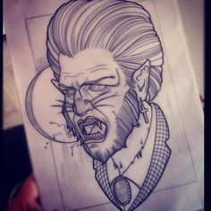Tattoo inspiration... Wolfman