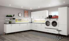 Nå kan du gjøre en god handel på til vaskerom hos A-bad på Alnabru Vi tilbyr vaskeromsinnredninger fra Linn Bad. Her finner du overskap , underskap , skap i flere bredder og høyder. og benkeplater i brosjyre eller på egne breddemål. kampanjen gjelder kun Linn bad vaskerom Hanging Canvas, Work Surface, Modern Kitchen Design, Stacked Washer Dryer, Nars, Laundry Room, Washing Machine, Kitchen Cabinets, Minimalist