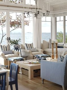 Beach Cottage Living Room via @Sarah Chintomby Chintomby Chintomby Richardson