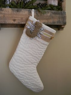 DIY Stocking I love the timeless look of this