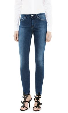 2018 New Online Extremely Cheap Price Slim High Waist Satin Jeans - Dark Blue Worn In GANT 2018 New Really For Sale 1BY2aXw