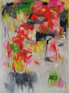 Flower on wall -abstract painting-by Yangyang Pan by siiso, via Flickr