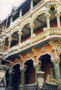 Old Portuguese style merchant's house in Diu, Daman and Diu, India by east med wanderer