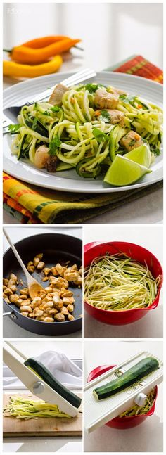 Zucchini Noodles with Cilantro Lime Chicken - Quick Recipeez