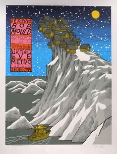 Bob Mould 2015 concert poster by Jay Ryan