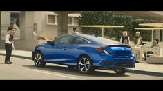 "The 2016 #Honda Civic Coupe-""Square"" #ad"