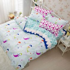 Polar Bear /& Girl Single Bed Duvet Cover /& Pillow Case Set BNIP