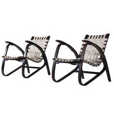 Early 1930s Lounge Chairs by Jindrich Halabala | 1stdibs.com