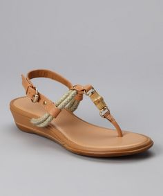 Take a look at this au naturel Natural Earthy Sandal  by If The Shoe Fits: Women's Footwear on #zulily today!