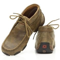 These new women's Twisted X driving mocs were built to be comfortable and functional for every day tasks. They feature a leather upper and rubber traction outsole. This style has an XSD insole with an