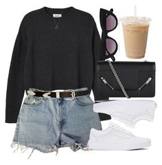 """""""Untitled #6855"""" by laurenmboot ❤ liked on Polyvore featuring Monki, Levi's, Vans, ASOS, Yves Saint Laurent, Quay and FOSSIL"""