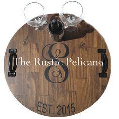 Huge Wine Barrel Personalized, Monogram, Lazy Susan, Wood Wine Barrel, Hand Painted, Wooden Wall Plaque, Rustic Decor, Bar, Wine Cellar