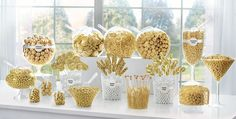 Unique Wedding Catering Ideas for the Big Day – MyPerfectWedding Pink Candy Table, Gold Candy Buffet, Wedding Candy Table, Lolly Buffet, Candy Buffet Tables, Diy Wedding, Wedding Decor, Sweet Table Decorations, Gold Party Decorations