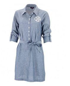 6e936c123e4b Blue Chambray Shirt Dress