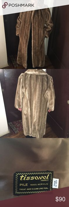 Tissavel Faux Fur Coat Gorgeous Tissavel Faux Fur Coat. Never worn. Tissavel of France Jackets & Coats