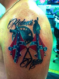 Confederate tattoo Rebel flag tattoo Derek Kastning tattoos 9035304432