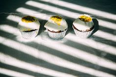chocolate passionfruit cupcakes  // via @thefirstmess