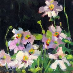 Japanese Anemone, painting by artist Liza Hirst