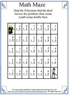math worksheet : 1000 images about math maze on pinterest  maze math and worksheets : Math Maze Worksheets