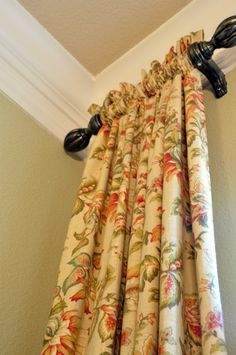 Small drapes as an accent. They are like jewelry to a room.