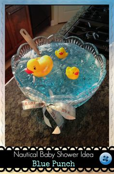 Baby Shower Ideas – Nautical Themed Punch!! Love it for a #babyboy