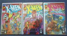 Fantastic Near Perfect Copy of X-Men # 1 Series 2, October 1991 Variant Cover 1b, 1c & 1d Normal Issue Comics.