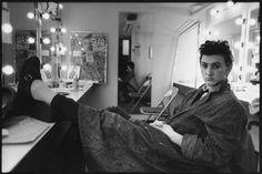 Sean Penn in his dressing room for the Broadway play Slab Boys, Manhattan, 1983