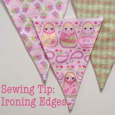 Sewing Tip: Ironing Edges - use a super simple tool to make pressing edges quicker and easier
