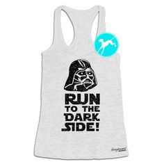 Star Wars Workout Tank run to the dark side Darth Vader Disney marathon race Burnout Shirt Top Training Tank funny running exercise fitness