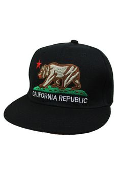 33dea044cd7 California Republic Snap-back In Black