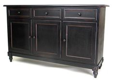 Picture of Wayborn Brookfield Console Cabinet in Black (wbn-4396) (Buffet Servers)