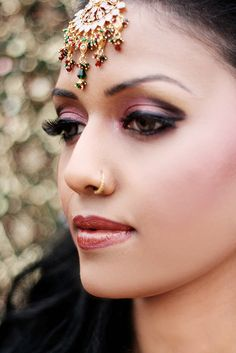 Indian Bridal makeup  Follow us at www.pinterest.com/nricouple/ for more!