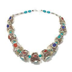 Iris & BAJALIA Tibetan-Style Station Necklace