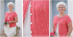Miss Flora Knitted Lace Jacket [FREE Knitting Pattern]