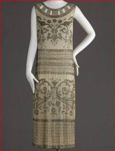 Formal Dress Worn as Wedding Dress, American, 1924. (View 1)