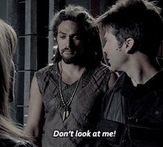 Teyla just told John that she's pregnant, and John turns to Ronon.