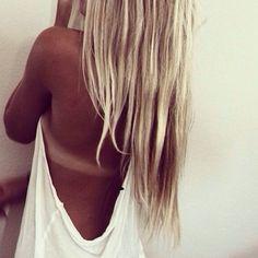 Tan skin long hair.. I miss summer!