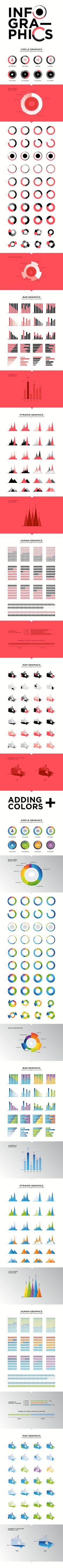 Modelos de gráficos para infografías #infografia #infographic#design